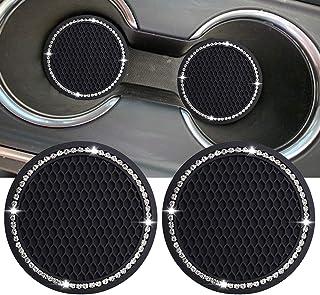 Lipctine Conjunto de 2 peças de 7,95 cm para interior do carro, redondo, porta-copos para automóveis, acessórios para port...