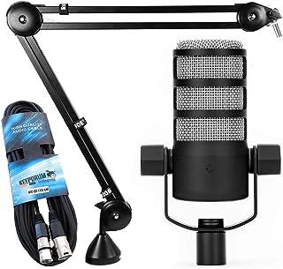 Rode Podmic - Micrófono dinámico para podcasts y trípode de mesa para PSA1