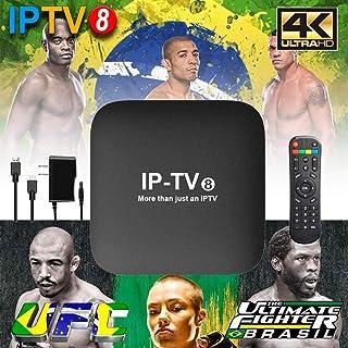 2019 IPTV 8� GERA��O 280+ canais de TV, muitos deles em recursos HD, Bluetooth, Android 7.1.2 e muitos canais de entretenimento, Infantil, esportes, filmes e s�ries (IPTV8 White Edition)