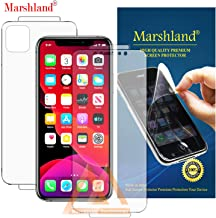 MARSHLAND 3D Screen Protector Bubble Free Anti Scratch Front & Back Screen Guard Compatible for iPhone 11 Pro (Transparent)