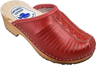 ESTRO Sabots Femme en Cuir Chaussures Hôpital Mules Femmes Sabots Orthopédiques CDL01