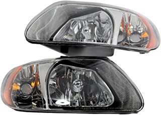 2PC Driver & Passenger Headlights Headlamps Set Replacement for Chrysler 2001 2002 2003 2004 2005 2006 2007 Town & Country/Voyager 2001-2007 Dodge Caravan/Grand Caravan