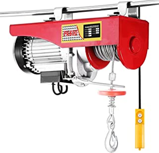 Happybuy 1320 LBS Lift Electric Hoist 110V Electric Hoist Remote Control Electric Winch Overhead Crane Lift Electric Wire Hoist
