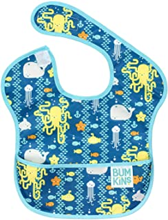 Bumkins SuperBib, Baby Bib, Waterproof, Washable, Stain and Odor Resistant, 6-24 Months – Sea Friends