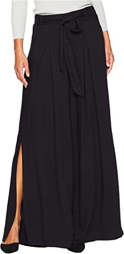 Hold On Tight Rayon Twill Wide Leg Pants