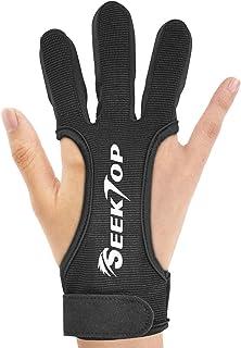 دستکش های تیراندازی با کمان JKER TECH محافظ شکار چرم سه محافظ انگشت برای مبتدیان جوان