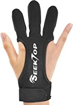 JKER TECH Archery Gloves Shooting Hunting Leather Three Finger Protector for Youth Adult Beginner