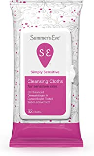 Summers Eve Cleansing Cloths 32 Count Simply Sensitive (2 Pack)