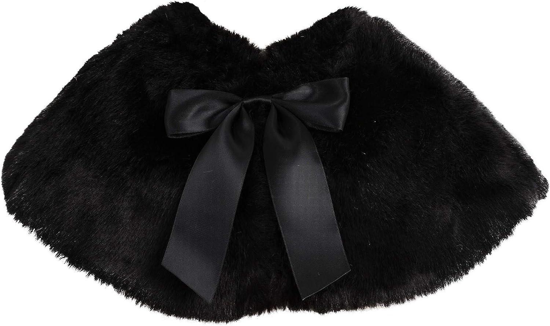 ekidsbridal Faux Fur Junior Flower Girl Shrug Princess Capelet Dress Cover-up Baptism