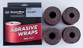 SuperMax Pre-Cut Abrasive Wraps for 16-32 Sanders, Multi-Grit Pack