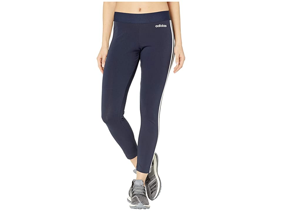 adidas Essential 3-Stripes Long Tights (Legend Ink/White) Women