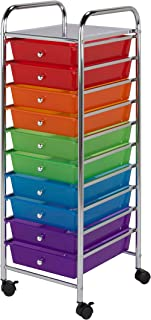 Honey-Can-Do CRT-02214 Rolling Office Organizer, 10-Drawer,Multicolored