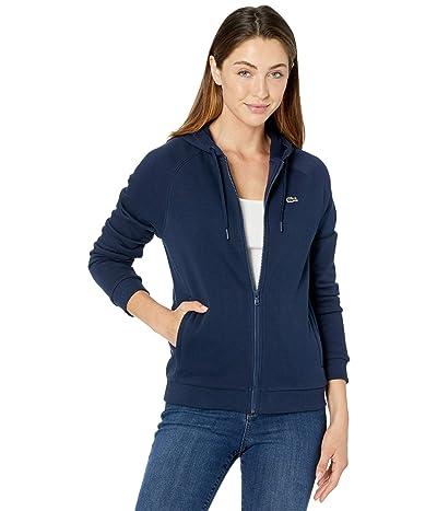 Lacoste Long Sleeve Solid Color Sweatshirt Women