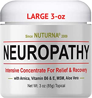Neuropathy Nerve Pain Relief Cream – Maximum Strength Relief Cream for Feet, Hands,..
