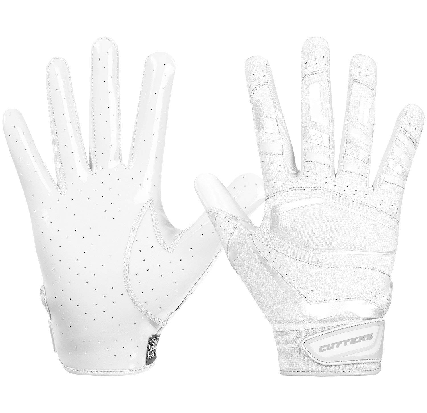 Cutters Gloves Solid White Large