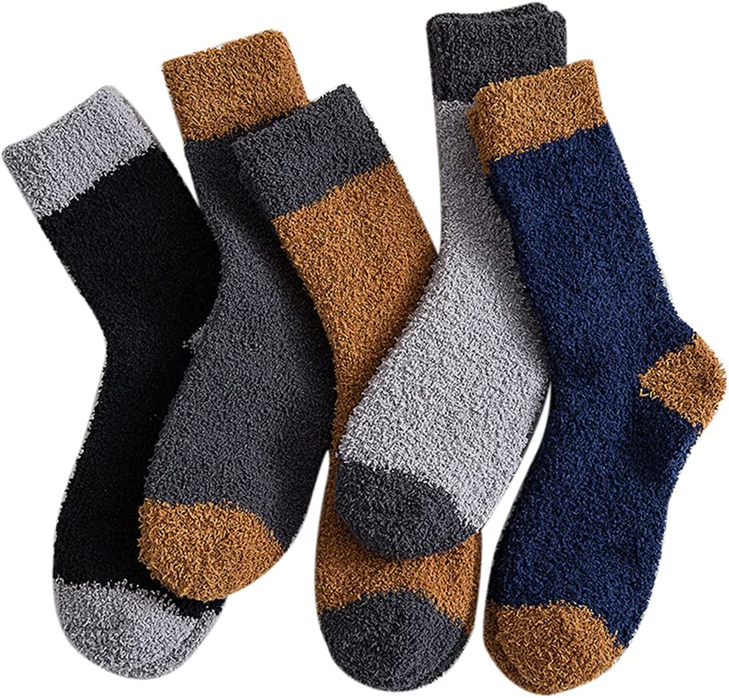 yeesport 2021 spring and summer new Fuzzy Socks Soft Cozy 5 Thick Simple Credence Fashion Pairs Warm