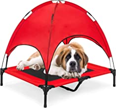 """RELIANCER 30""""/ 36""""/ 48"""" Elevated Dog Cot with Canopy Shade 1680D Oxford Fabric Outdoor Pet Cat Cooling Bed Tent w/Convenie..."""