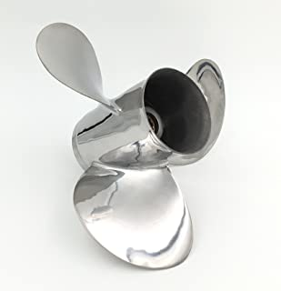 POLASTORM for Yamaha 20-30HP Stainless Steel Outboard Propeller 9 7/8 x 12 Pitch