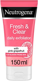 Neutrogena, Fresh & Clear Daily Exfoliator, Pink Grapefruit & Vitamin C, 150ml