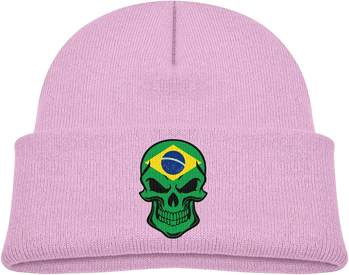 CDHL99 SEAL limited product Brazil Flag Skull Boys Don't miss the campaign Girls Beanie Knitted War Caps Kids