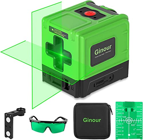 high quality Laser Level, Ginour 100ft Green Cross laser level self leveling Tools Horizontal &Vertical USB 2021 Charger, Line Laser for Construction or new arrival Picture Hanging- Protective Glasses & Reflector & Magnitic Base sale