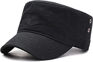 HASAGEI - Cappello militare da uomo, regolabile, in cotone, stile vintage