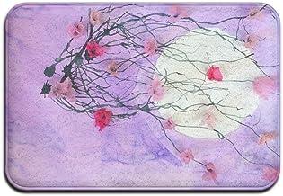 Art Style Japanese Sakura Doormats Anti-slip House Garden Gate Carpet Door Mat Floor Pads