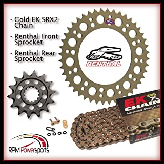RPM Renthal for Sprockets 15/45 520 Kit EK SRX2 Chain 2015 2016 for Yamaha FZ-07 FZ07 MT-07