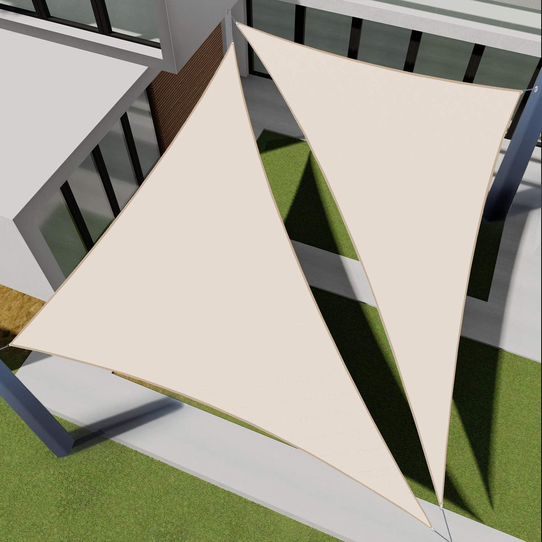 EK Sunrise 12' Los Angeles Manufacturer regenerated product Mall x 17' Waterproof -Beige Sail Rig Shade Sun