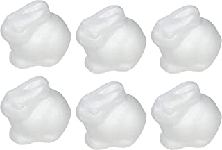 Craft Foam - 6-Count Rabbit Shaped Foam Sculpture, Polystyrene Foam Shapes for Craft, Craft Supplies for DIY Arts and Crafts Projects, Easter Decorations, Kids Art Class, 4.5 x 4 x 3 Inches