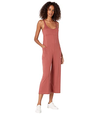 Hurley Sandy Rib Jumpsuit (Claystone Red) Women