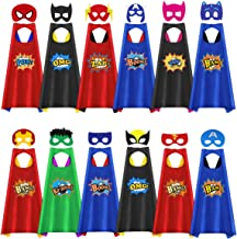 Superhero Capes for Kids, 12 Pack Kids Superhero Capes and Masks, Super Hero Capes for Kids Boys Girls Birthday Party Costume Dress Up Halloween Party Favors