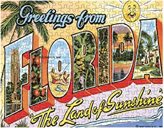 Greetings from Florida Old Travel Poster Jigsaw Puzzle Print 252 Pieces