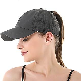 Women Ponytail Baseball Caps Breathable Quick Drying Mesh Baseball Caps, Quick Dry Outdoor Sports Run Cap