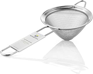 Fine Mesh Sieve Strainer Stainless Steel Cocktail Strainer Food Strainers Tea Strainer Coffee Strainer with Long Handle fo...