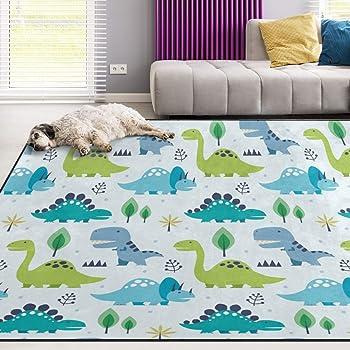1.7 x 2.6 ft 50 x 80 cm Naanle Fantasy Unicorn Non Slip Area Rug for Living Dinning Room Bedroom Kitchen Unicorn Forest Nursery Rug Floor Carpet Yoga Mat