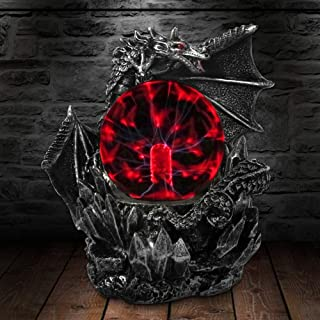 Aibote Magic Fly Dragon Glass Lightning Plasma Ball Touch Sensitive Night Light Lamp Bedroom Home Parties Decorations Novelty Toy Chrismas Halloween Gift