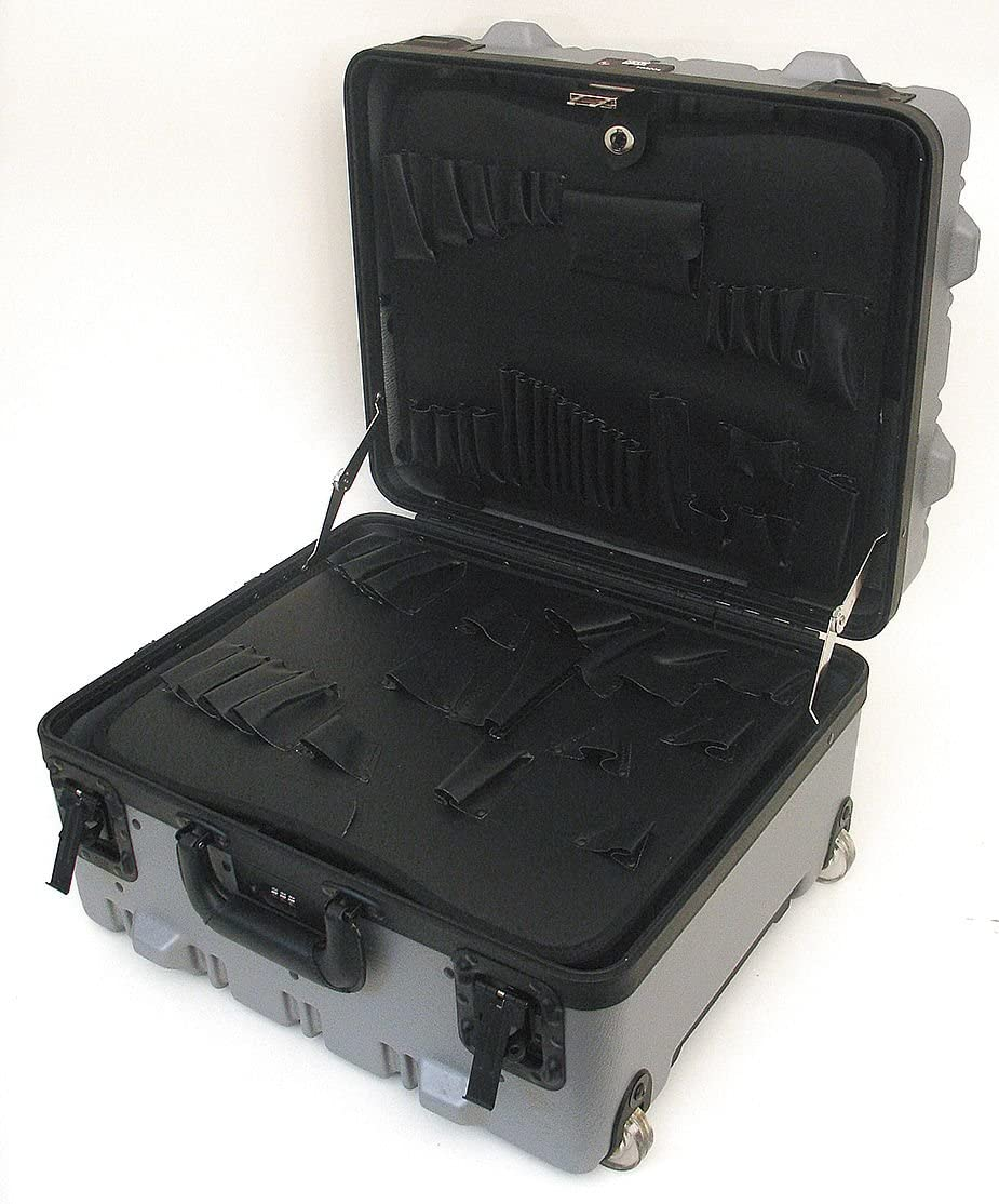 Super-Size SALENEW very popular Tool Case with Wheels and G Telescoping Dedication Handle Color: