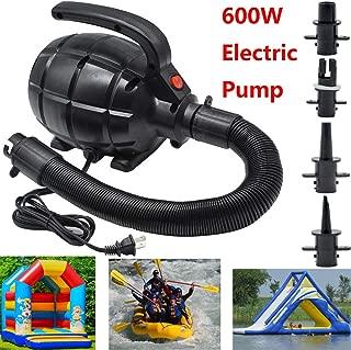 Electric Pump for Inflatables Air Mattress Pump Air Bed Pool Toy Raft Boat Quick Electric Air Pump Black (AC Pump(600W))