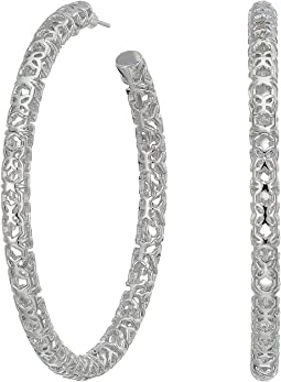 Rhodium Filigree Metal