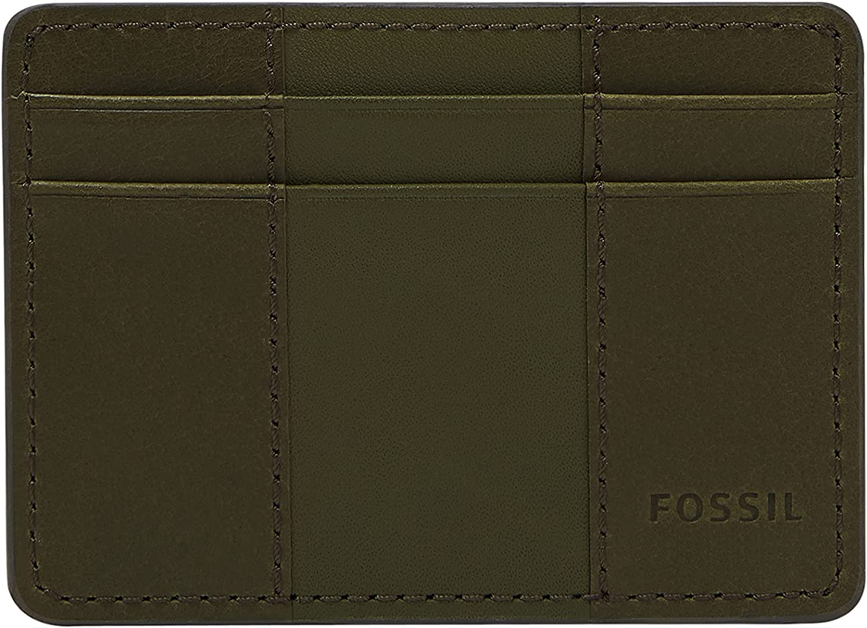 Fossil Men's quality outlet assurance Leather Minimalist Card Front Case Wallet Pocket