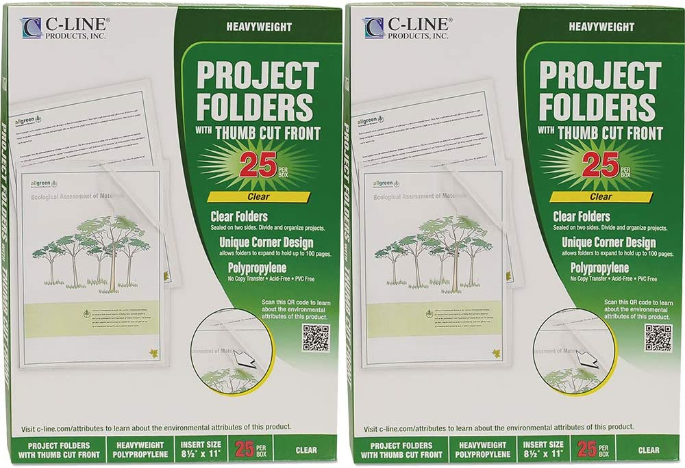C-Line : Biodegradable Max 80% All items free shipping OFF Project Si Folders Polypropylene Letter