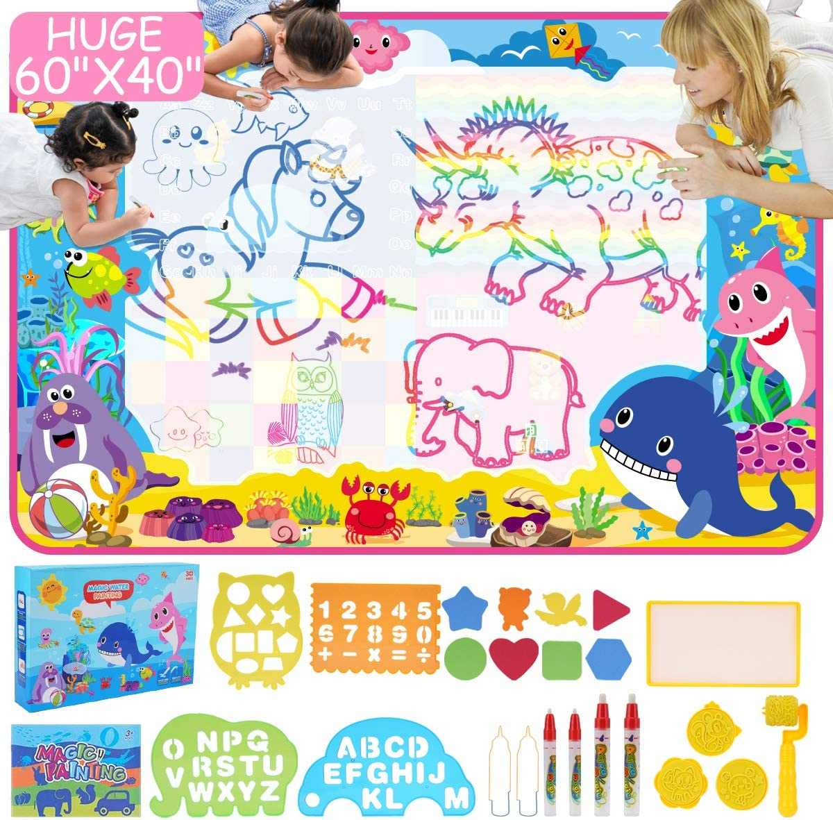 ESDPAL Aqua Magic Doodle Mat - 2021new shipping Limited price sale free 60 Large 40 Water X inches Extra