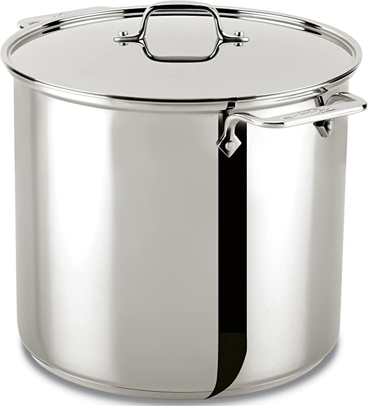 All Clad 59916 Stainless Steel Dishwasher Safe Stockpot Cookware 16 Quart Silver