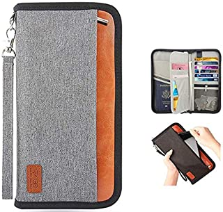Passport Holder RFID Blocking Multifunction - Travel Wallet for Family Larger Capacity Waterproof Travel Document Wallet f...
