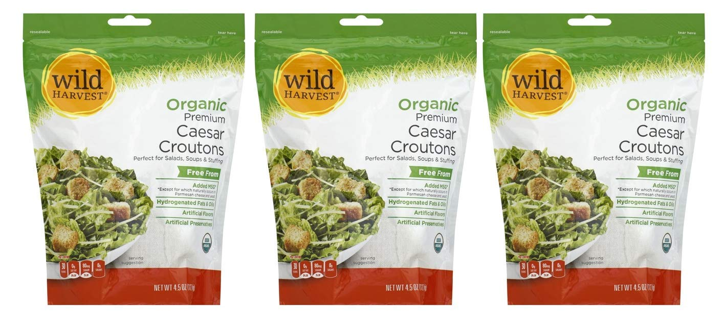 Wild sold out Harvest Free shipping / New Organic Premium Caesar Croutons Ounce 4.5 Pack of
