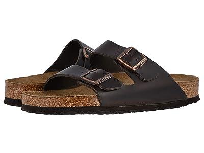 Birkenstock Arizona Soft Footbed Leather (Unisex) (Brown Amalfi Leather) Sandals