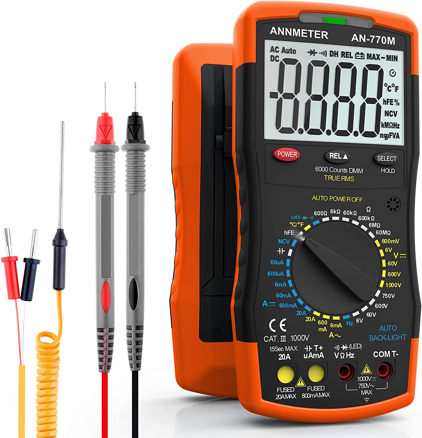 AIOMEST Digital Multimeter 770M Arlington Selling and selling Mall Voltage Amp Meas DMM Ohm Meter