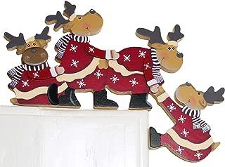 khevga Christmas Door Decoration Funny - Tumbling Moose for Door Frames