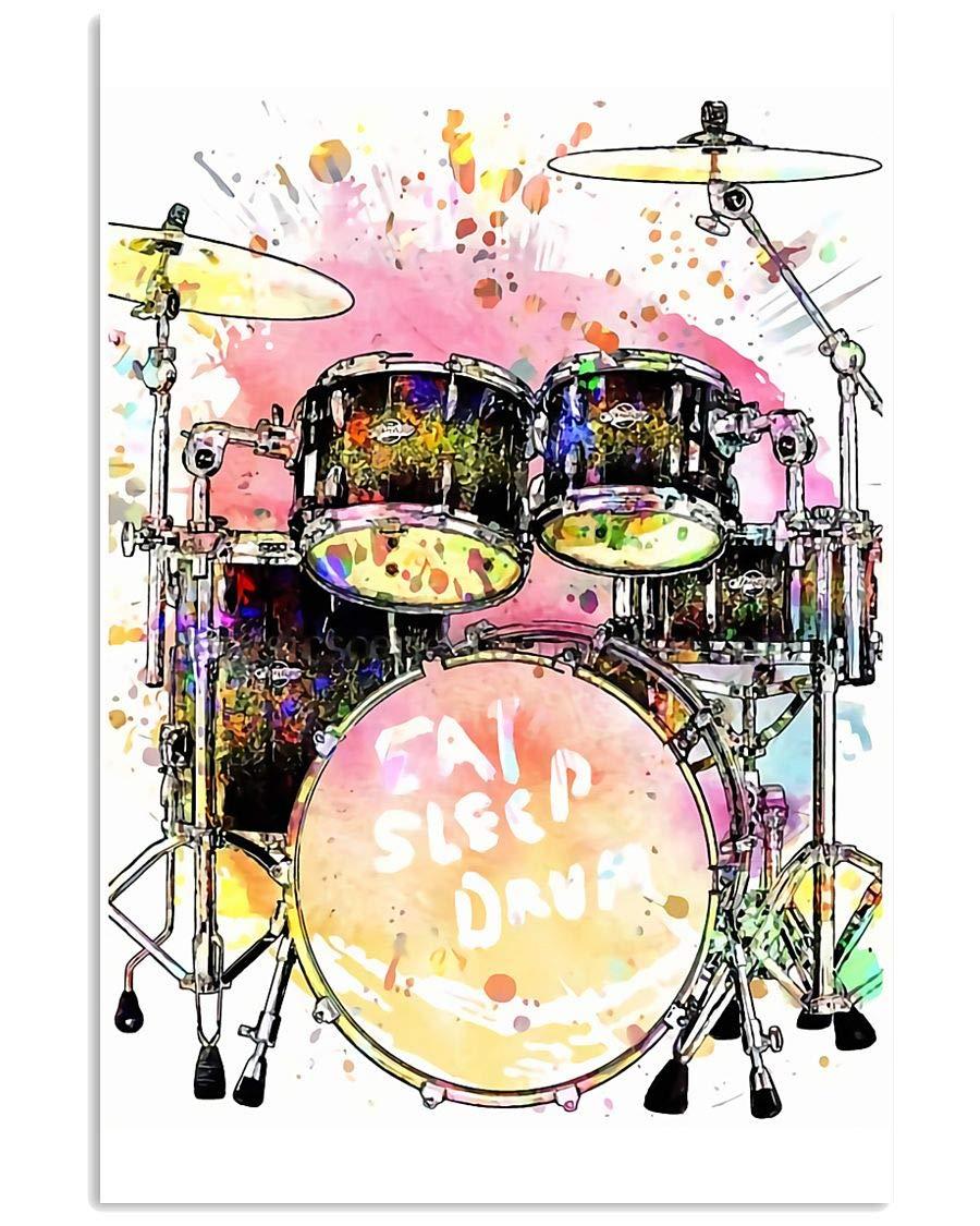 Drummer Eat Sleep Seasonal Wrap Introduction Drum Poster Artwork Canvas Pri Wall Art Max 69% OFF